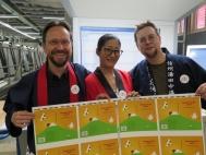 Thomas Köhler mit Yoshi Huggler und Yves Capaul