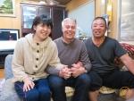 Fischer Fujijima mit Tochter und Markus