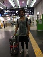 Eric bei der Ankunft in Kokura.