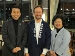 Thomas Köhler und Sayuri Kato, Vice Governor Nagano Prefecture und Mr. Saisu