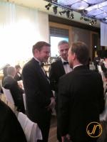 Thomas Köhler im Gespräch mit Bundespräsident Didier Burkhalter und Edgar Dörig über zu Fuss durch Japan
